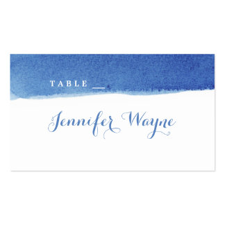 Blue watercolor nautical beach wedding place card pack of standard business cards