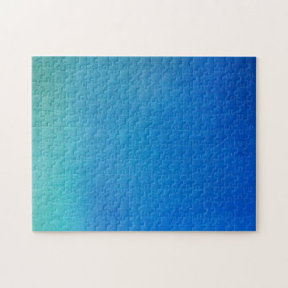 Blue Watercolor Ombre Jigsaw Puzzle
