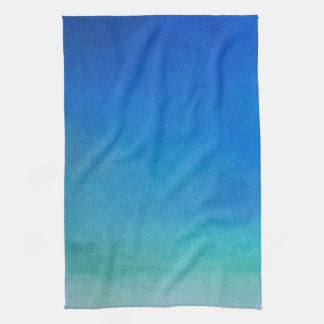 Blue Watercolor Ombre Tea Towel