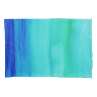 Blue Watercolor Pillowcase