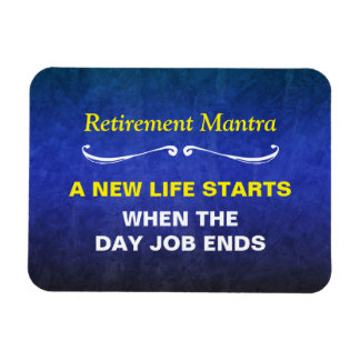 Blue Watercolor Retirement Mantra Rectangular Photo Magnet