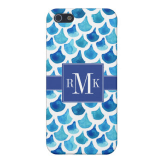 Blue Watercolor Scale Pattern Case For iPhone 5/5S