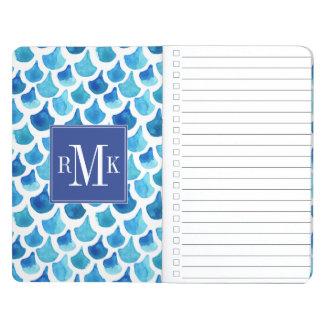 Blue Watercolor Scale Pattern Journal