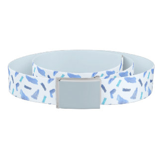 Blue Watercolor Spots Belt