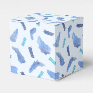 Blue Watercolor Spots Classic Favor Box