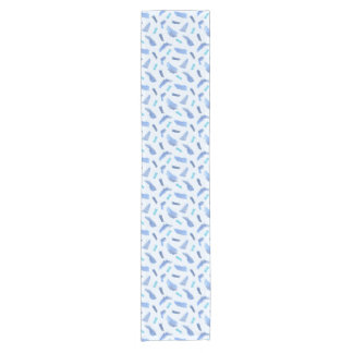 Blue Watercolor Spots Short Table Runner