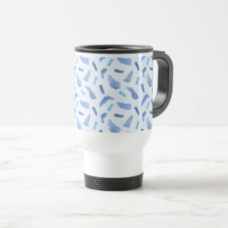 Blue Watercolor Spots Travel Mug