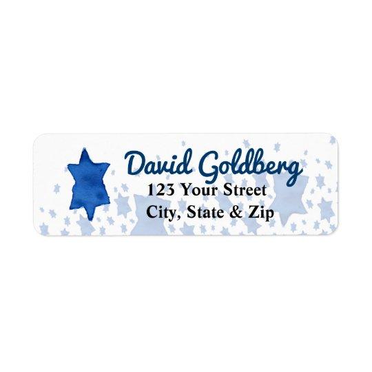 Blue Watercolor Star of David