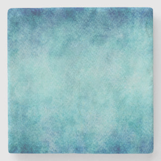 Blue Watercolor Turquoise Paper Background Stone Coaster
