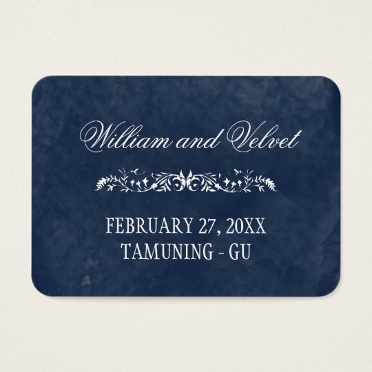 Blue Watercolor Wedding Place Cards