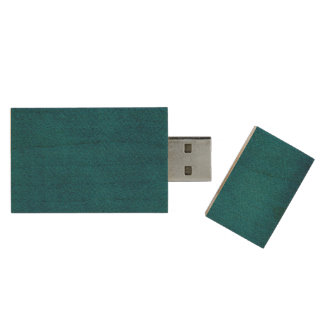 Blue Watercolor Wood USB Flash Drive
