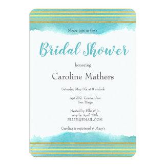 Blue Watercolour Bridal Shower Invitation
