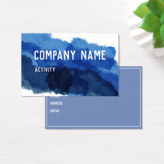 Blue Watercolour Businesscard Business Card
