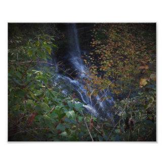Blue waterfall photo print