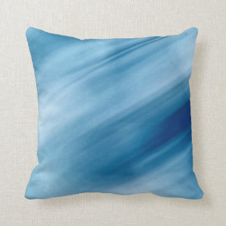 Blue Waterfalls Pastel Art Throw Pillow