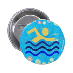 BLUE WATERS: Cool mind in hot times Pinback Buttons