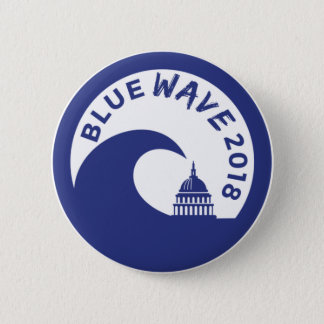 Blue Wave 2018  Round Button - Democratic victory!