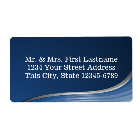 Blue Wave Address Shipping Label