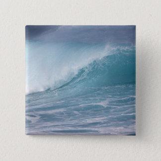 Blue wave crashing, Maui, Hawaii, USA 2 15 Cm Square Badge