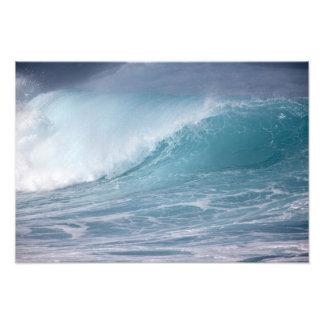 Blue wave crashing, Maui, Hawaii, USA 3 Photo Print