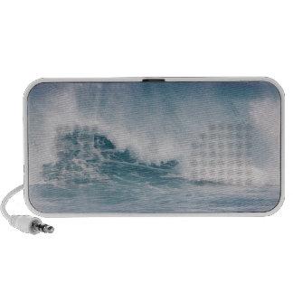 Blue wave crashing, Maui, Hawaii, USA 3 Portable Speaker