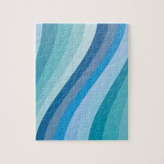 Blue wave design jigsaw puzzle