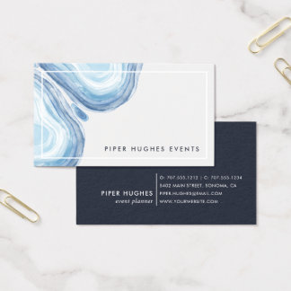 Blue Wave Geode Business Card