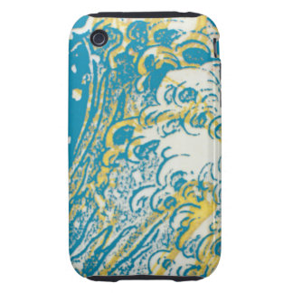 Blue Wave iPhone Case iPhone 3 Tough Cases