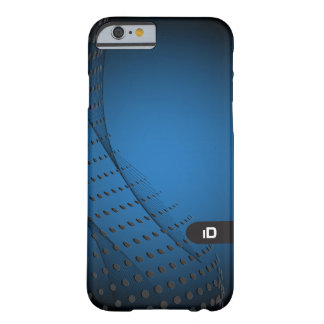 BLUE WAVE |  modern abstract with initials Barely There iPhone 6 Case