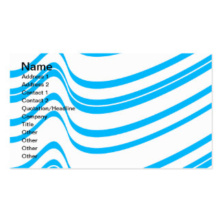 Blue Wave Pattern Business Card Templates