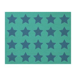 blue wave patterns lines wood prints