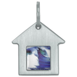 Blue Wave Pet ID Tag