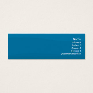 Blue Wave - Skinny Mini Business Card