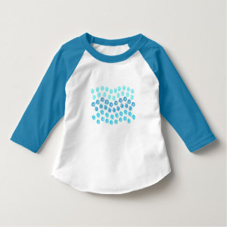 Blue Waves 3/4 Sleeves Toddler T-Shirt