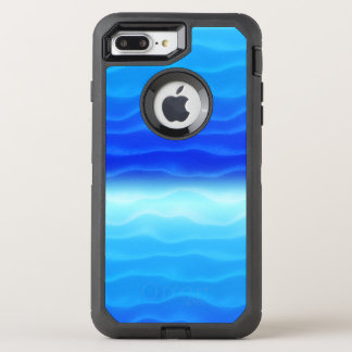 Blue Waves Abstract OtterBox Defender iPhone 8 Plus/7 Plus Case