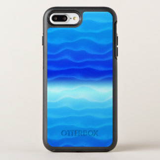Blue Waves Abstract OtterBox Symmetry iPhone 8 Plus/7 Plus Case