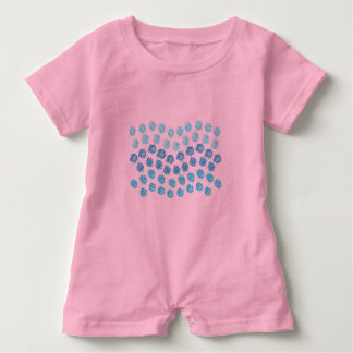 Blue Waves Baby Romper Baby Bodysuit