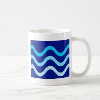 Blue waves basic white mug