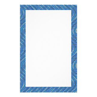 blue waves border stationery