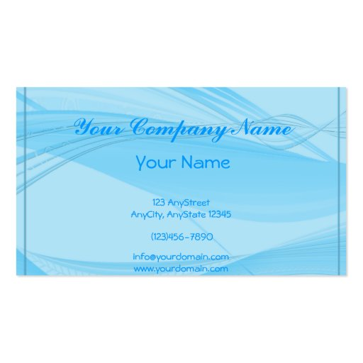 Blue Waves Business Card Templates