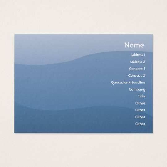 Blue Waves - Chubby Business Card