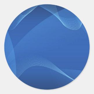 Blue Waves Classic Round Sticker