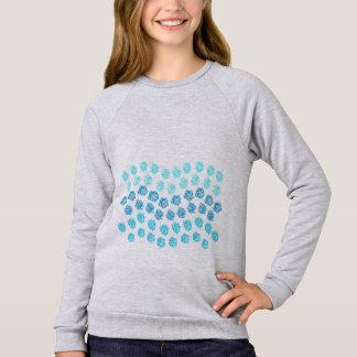 Blue Waves Girls' Raglan Sweatshirt
