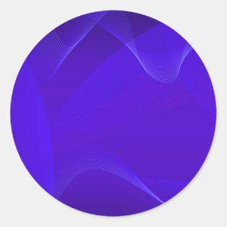 Blue Waves I Classic Round Sticker