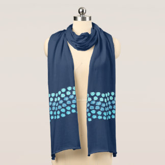 Blue Waves Jersey Scarf