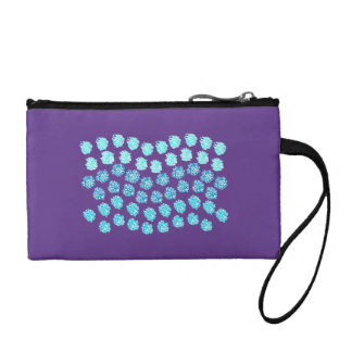 Blue Waves Key Coin Clutch