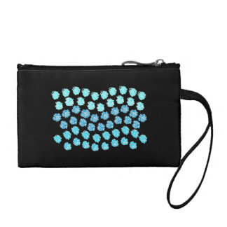 Blue Waves Key Coin Clutch Coin Wallet