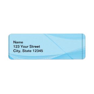 Blue Waves Return Address Label