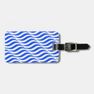 Blue Waves Luggage Tag