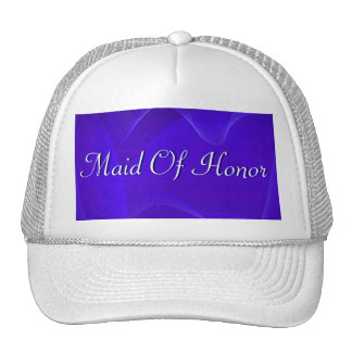Blue Waves Maid Of Honor Mesh Hat